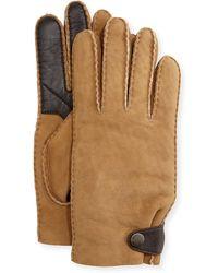 UGG - Men's Suede & Leather Smart Gloves - Lyst
