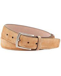 Neiman Marcus - Men's Suede Square-buckle Belt - Lyst