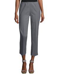 Lafayette 148 New York - Fundamental Bi-stretch Stanton Cropped Pants - Lyst