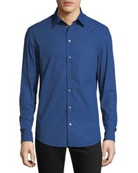 Emporio Armani - Men's Hexagon-pattern Sport Shirt - Lyst