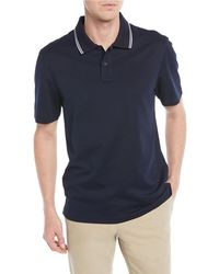 Vince - Men's Tipped-collar Ribbed Polo Shirt - Lyst