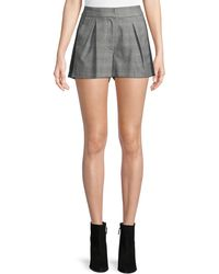 Joie - Kevlyn Pleated Side-stripe Plaid Shorts - Lyst