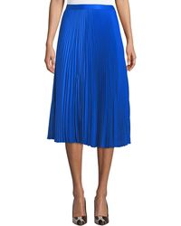 Club Monaco - Annina Accordion-pleated Midi Skirt - Lyst