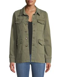 L'Agence - Victoria Button-front Utility Jacket - Lyst