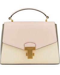 315361fb501d Tory Burch - Juliette Small Colorblock Top-handle Satchel Bag - Lyst