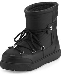 Moncler | Fanny Lace-up Leather Ankle Boot | Lyst