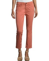 7 For All Mankind - Brushed Sateen Skinny Ankle Jeans - Lyst