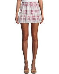 ab1f5ac58a LoveShackFancy Taylor Tiered Mini Skirt in Natural - Lyst