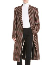 Derek Lam - One-button Houndstooth Plaid Easy-fit Caban Coat - Lyst