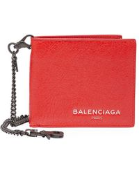 Balenciaga   Contrast-lined Leather Chain Wallet   Lyst
