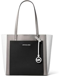 5e5a3c240289 Michael Kors - Gemma Large Tri-color Pebbled Leather Tote - Lyst