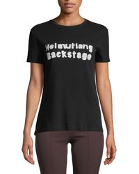 Helmut Lang - Logo Stretch Cotton T-shirt - Lyst