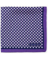 Ermenegildo Zegna - Circular Pattern Silk Pocket Square - Lyst