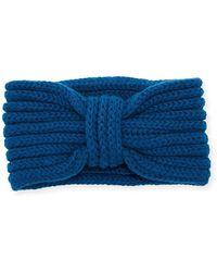Rosie Sugden - Cashmere Knotted Ear Warmer Headband - Lyst