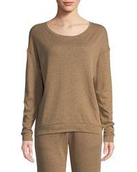Neiman Marcus - Cotton-cashmere Crewneck Pullover Sweater - Lyst