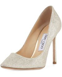 Jimmy Choo - Romy Glittered 100mm Pumps - Lyst