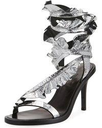 Isabel Marant | Ansel Metallic Leather Sandals | Lyst