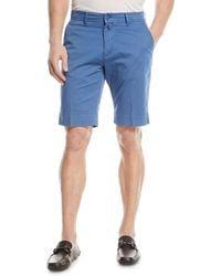 Kiton - Washed Twill Slim-straight Shorts - Lyst
