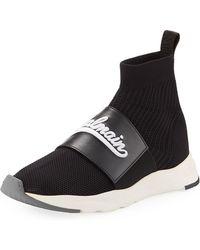 Balmain - Men's Cameron Pull-on Logo Sock Running Sneakers - Lyst