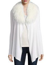 Neiman Marcus - Luxury Chain-trimmed Cashmere Cardigan W/ Tibetan Collar - Lyst