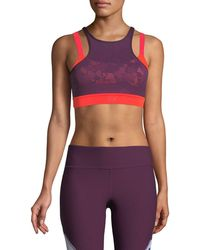 Under Armour - Vanish Mesh Mid-impact Sports Bra - Lyst