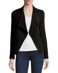 Neiman Marcus - Draped French Terry Moto Jacket - Lyst