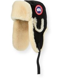 Lyst - Canada Goose Shearling Fur Pilot Hat in Blue for Men f28ecb5643b7
