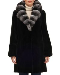 Gorski - Chinchilla Notched-collar Mink Fur Stroller Coat - Lyst