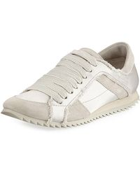 Pedro Garcia - Cristina Satin Lace-up Trainer Sneakers - Lyst