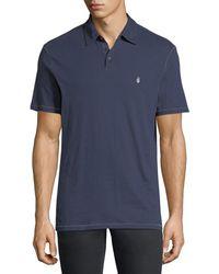 John Varvatos - Soft Collar Peace Polo Shirt - Lyst