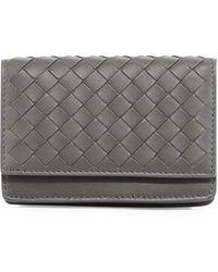 Bottega Veneta - Woven Flap Credit Card Case - Lyst