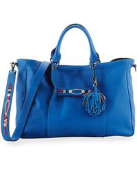 Longchamp   3d Massai Medium Leather Tote Bag   Lyst