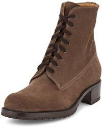 Gravati - Suede Lace-up Hiker Boots - Lyst