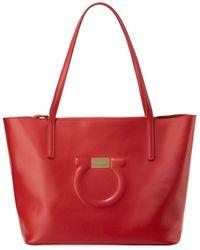Ferragamo - Medium City Leather Shoulder Tote Bag - Lyst f076038f6bc8b