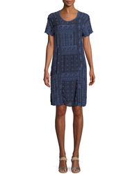 Johnny Was - Mixed Berry Georgette Short-sleeve Shift Dress - Lyst