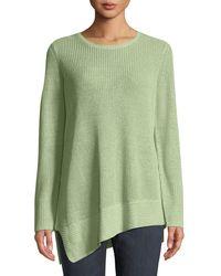 Eileen Fisher - Waffle-knit Linen Top - Lyst