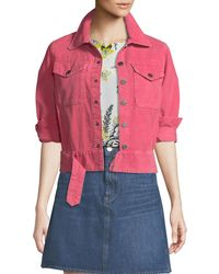 M.i.h Jeans - Paradise Cropped Button-front Corduroy Jacket - Lyst