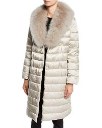 Max Mara - Here Is The Cube Collection Novedop Satin Down Jacket W/ Travel Case - Lyst