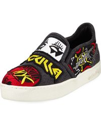 Haculla - Men's Rancid Patched Slip-on Sneakers - Lyst
