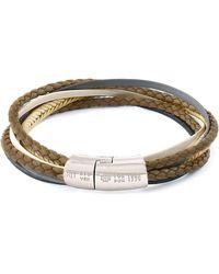 Tateossian - Men's Multi-strand Leather Cobra Bracelet Stone - Lyst
