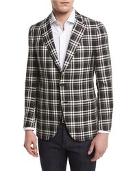 Isaia - Domenico Plaid Two-button Sport Coat - Lyst