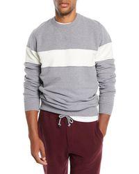Brunello Cucinelli - Men's Chest-stripe Sweatshirt - Lyst