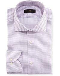 Ike Behar - Mini Grid Textured Dress Shirt - Lyst