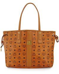 MCM - Reversible Liz Large Shopper In Visetos (black 2) Handbags - Lyst