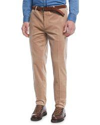 Brunello Cucinelli - Men's Corduroy Flat-front Pants - Lyst