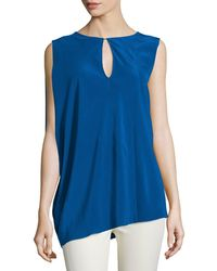 CoSTUME NATIONAL - Sleeveless Keyhole-front Top - Lyst