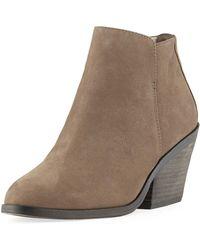 Eileen Fisher - Rove Nubuck Block-heel Booties - Lyst