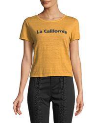 A.L.C. - La Californie Graphic Crewneck Tee - Lyst