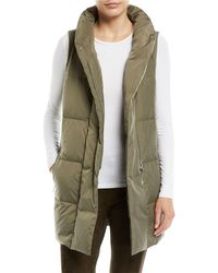 Lafayette 148 New York - Quilted Puffer Down Vest W/ Back Zip - Lyst
