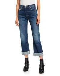 RE/DONE - 90s Loose Straight-leg Jeans With Cuff - Lyst